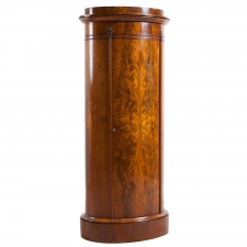 Danish Empire Pedestal Cabinet in Book-Matched Mahogany