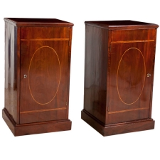 Pair of English Regency Pedestal Cabinets, c. 1820