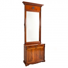 Biedermeier Console with Mirror in Cuban Mahogany, Northern Europe, c. 1835