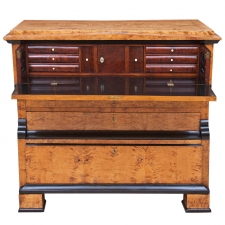 Biedermeier Drawer-Front Secretary in Birch, Sweden, circa 1830