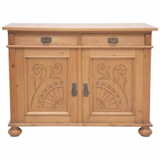 Jugendstiel or Art Nouveau Cabinet in Pine