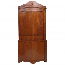 Empire Corner Cabinet in Mahogany