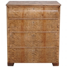 Biedermeier Chest of Drawers in Fire Birch