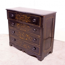 English Tolle Chest of Drawers with 4 Drawers, c.1880