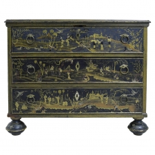 18th Century British Colonial Chinoiserie Chest of Drawers