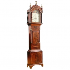 Tall Case Clock by Nathaniel Edgecombe in Mahogany, Bristol England, c.1835