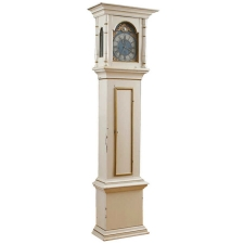 18th Century Tall-Case Clock in White Painted Finish