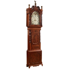 English Tall Case Clock by George Slater in Mahogany, c. 1830