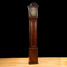 Early 18th Century Flemish Tall-Case Clock with Oak Case & Pewter Dial