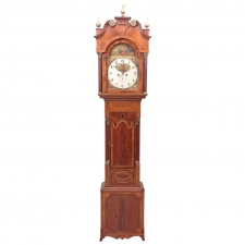 English Regency Clock, Decorative Painting by Finnemore of Birmingham