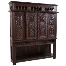 French Louis XIII Revival Cupboard in Carved Oak
