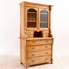 Cupboard or Bookcase in Pine, circa 1880