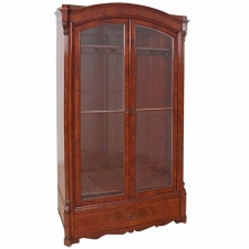 Louis Philippe Vitrine or Bookcase in Mahogany, c. 1850
