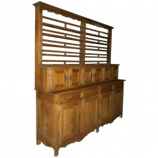 Long Provincial Louis Philippe Storage Cupboard with Dish Rack in Cherry