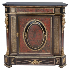 Napoleon III Boulle Cabinet with Castings and Ormolu