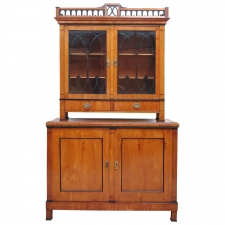 Viennese Biedermeier Cupboard with Vitrine, circa 1820