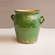 French Antique Confit Pot with Full Glaze