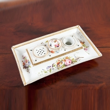 Antique Porcelain Inkwell