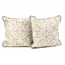 Pair of William Morris Style Brocade Throw Pillows