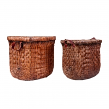 Pair of Rattan Baskets