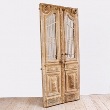 French Belle Epoque Wooden Doors in Original Paint, c. 1880