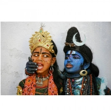 """Shiva and Parvati Street Peddlers"" Photograph, Udiapur India 2007"