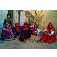 """Shepherds Wives"" Photograph, Jojawar India 2007"