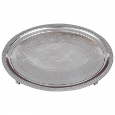 Tiffany and Co. Silver-Soldered Oval Footed Tray, Dated 1957