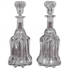 Pair of 18th Century English Port & Sherry Decanters