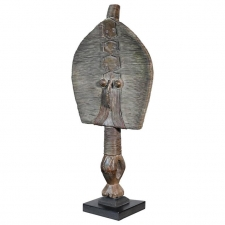 Traditional Primitive Tribal Art Bakota Reliquary Figure from Gabon, Africa