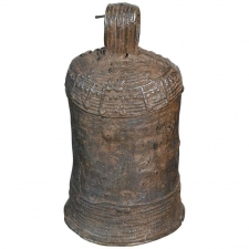 African Tribal Art Igbo or Igala Cast Bronze Bell, West Africa, Nigeria