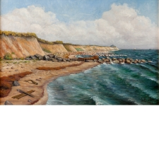 """Seascape of Gedser on Falster Island"", 1928"