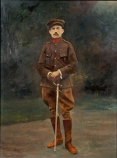 """Portrait in Uniform"" Oil on Canvas, 1920"