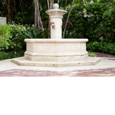 Antique Limestone Fountain with Center Spouts