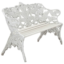 Swedish Garden Bench with Fern Motif