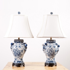 "New Blue and White ""Chinese Export"" Porcelain Lamp"