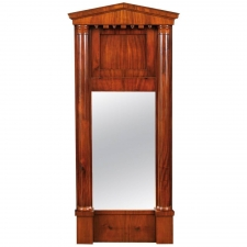 Antique Biedermeier Mirror in Mahogany, c. 1820