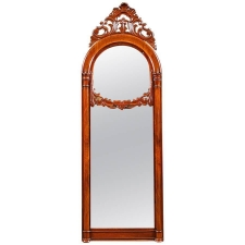 Antique Mirror in Mahogany with Double Panels, c.1840