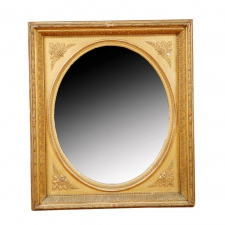 American Antique Mirror in Giltwood., c. 1865