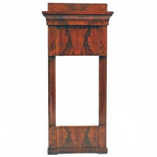 Biedermeier Mirror in Mahogany with Original Glass, Germany, c. 1825