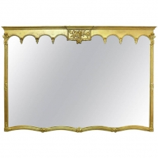 Large Gilded Mantle Mirror, American, circa 1900