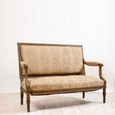 French Antique Gilt Settee