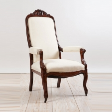 French Louis Philippe Period Armchair in Mahogany, c. 1830