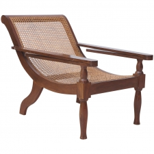 West Indies Planters Chair in Mahogany with Caning