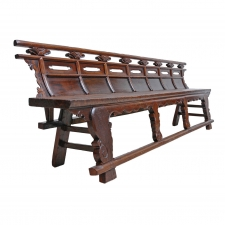 Long Chinese Shanxi Bench in Elm, circa 1780-1820