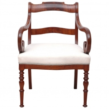 Fine Mahogany Armchair or Fauteuil, Northern Europe circa 1830