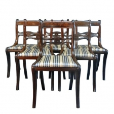Set of Six Classical Dining Chairs Attributable to Duncan Phyfe, New York, circa 1820