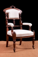 Set of Seven Antique American Dining Chairs in Mahogany c.1870