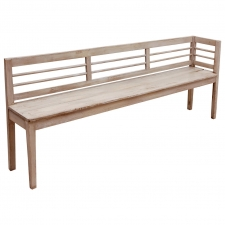 Long Scandinavian Bench with Gustavian Paint, circa 1900