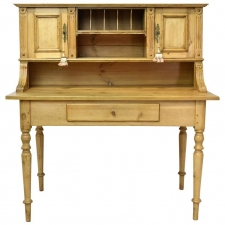 19th Century Antique European Writing Table or Desk in Pine